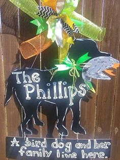 Bird Dog Door Hanger by WhatShesDoingNow on Etsy