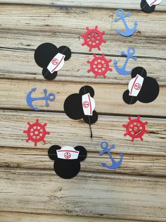 Sailor Mickey garland. Great for a nautical Mickey theme or a Disney cruise celebration!