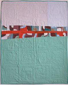 reality tv quilt, back  January 2003 - January 2012 = slowest quilt ever.