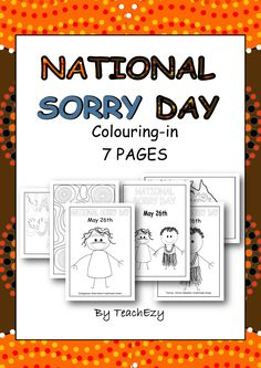 Looking for some colouring pages for Sorry Day? Look no further than this great pack! 7 pages for $2.20!