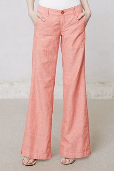 anthropologie pilcro linen wide legs, look sooo comfy