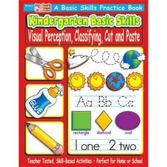 Kindergarten Basic Skills: Visual Perception, Classifying, Cut and Paste #Glimpse_by_TheFind