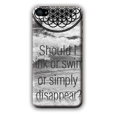 Bring Me The Horizon (sink or swim) iPhone 5/5s i5 Case ($97) ❤ liked on Polyvore featuring accessories and tech accessories