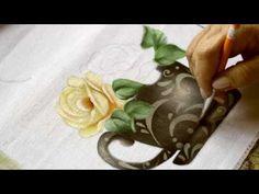 Pintura em tecido - Como criar seu stencil (reutilizando outros) - YouTube