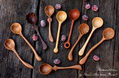 Mini Wooden Spoons Small Wooden Spoons van OldWorldKitchen op Etsy