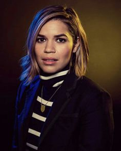 America Ferrera photographed by Justin Bishop for Vanity Fair during the 2017 Sundance Film Festival Beauty Editorial, Editorial Fashion, Editorial Photography, Fashion Photography, Photography Magazine, America Ferrera, Hair Color And Cut, Female Actresses, Fashion Models