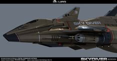 ...This is a redesign of the Skydiver from the 60/ 70 s TV series UFO from Gerry Anderson I made this in 3dmax using Mental Ray as render engine