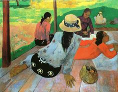 Paul Gauguin - Post Impressionism - Tahiti - La sieste - The nap - 1891