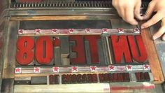 Letterpress Poster Printing on Vimeo