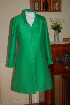 Vintage 1960s Kelly Green Coat Jacket.  via Etsy.