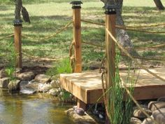 mini dock for pond ideas