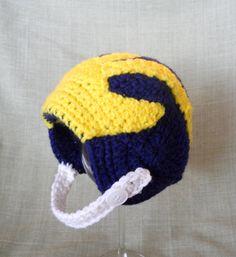 University of Michigan Wolverines Crochet Baby by CDBSTUDIO, $29.99