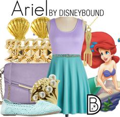 Happy 25th to The Little Mermaid! This Ariel inspired outfit is perfect for your summer adventures. | Disney Fashion | Disney Fashion Outfits | Disney Outfits | Disney Outfits Ideas | Disneybound Outfits |