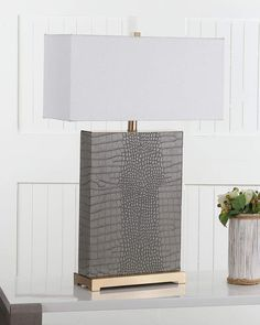 Shop Joyce Rectangular Table Lamps, Set of 2 from Safavieh at Neiman Marcus Last Call, where you'll save as much as on designer fashions. Elegant Table Lamp, Diy Vase, Planter Box Designs, Lamp, Lights, Table Lamp Sets, Lamp Sets, Floor Lamp Bedroom, Inspiration