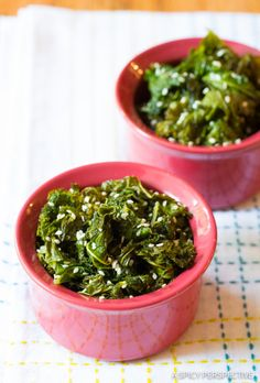 Simple Southern Wilted Honey Butter Kale Recipe on ASpicyPerspective.com #kale