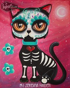 Day of the dead cat by Jordan Hawen                                                                                                                                                                                 More