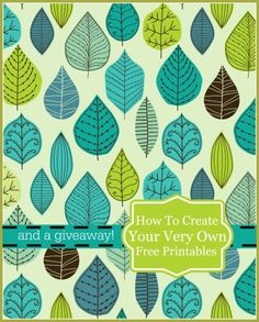 HOW TO MAKE YOUR VERY OWN PRINTABLES WITH GRAPHICSTOCK AND TWO GIVEAWAYS - StoneGable