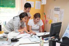 Le nostre terapiste Giordana, Cristina e Valentina al lavoro