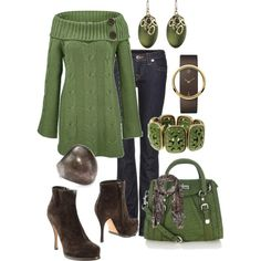 Green Fall fashion