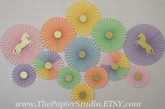 Rainbow Unicorn Set of 13 Thirteen Paper by ThePapierStudio