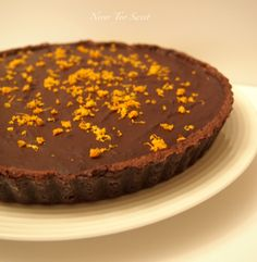 Chocolate Orange Tart (we're talking cocoa here, yum! Gourmet Recipes, Sweet Recipes, Chocolate And Orange Tart, Basic Food Groups, Death By Chocolate, Orange Recipes, Chocolate Truffles, Just Desserts, Sweets