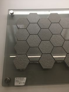 Gloss grey hex tile strips Gray Hex, Grey, Hex Tile, Bath Mat, Bathroom, Home Decor, Gray, Washroom, Hexagon Floor Tile