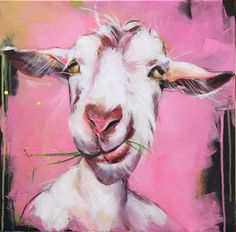 3. Lykkelige geiter - KARI WANG MALERI Goat Paintings, Funny Paintings, Animal Paintings, Dog Canvas Painting, Artist Painting, Artist Art, Goat Art, Art Memes, Art Quotes