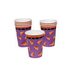 Candy Corn Spider Paper Cups