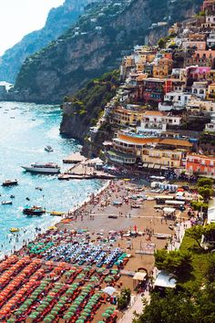 The Amalfi Coast. . . . . one of these   days you can find me underneath one of those umbrellas :-)