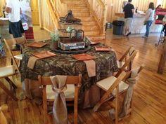 Camo table cloth. Perfect!