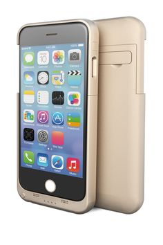 Protect and add extra battery life to your iPhone 6 with this fun and phunkee case.  #Gold #Battery #Case for iPhone 6 | Sponsored by Nordstrom Rack.