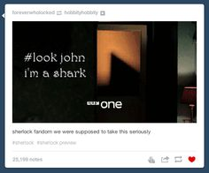 "Because this is what happens when there's finally a trailer for Season 3. | Tumblr Explains Why ""Sherlock"" Needs To Come Back On The Air Right Now"