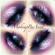 MAC mixing medium as a base and Girlactik glitter all over. MAC hepcat and Indian ink eyeshadows with bordeauxline eyeliner on the bottom with #119 and #747 red cherry lashes (together)  #makeupbyanna #lashes #glitter