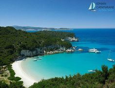The island of Paxos, in Greece, is one of the Greek islands of the Ionian Sea and it belongs to the Ionian islands group. Mykonos, Santorini, Places In Greece, Greece Hotels, Greece Trip, Paxos Greece, Paxos Island, Exotic Beaches, Greece Holiday