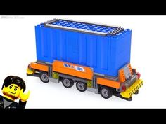 (4) LEGO Container Handler AGV custom MOC! - YouTube