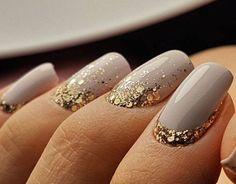 Grey & Gold Glitter