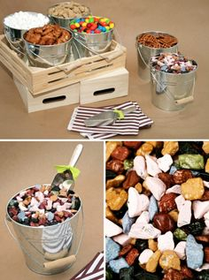 Let Guests Make Their Own Trail Mix with Choco Rocks #rockcandy #chocorocks #trailmix