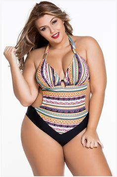 Hooray One Piece Swimwear Women Swimsuit Tankini Sexy Floral Halter Padded Bathing  Suits Breast Moda Praia Calcinha Fio Dental 9c5838b3cf0