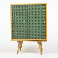 """Finding a cabinet like this would be a serious score.  (""""Planner Group"""" cabinet. Paul McCobb, Winchendon Furniture Co, 1950.) Design Dealers E8: Carry On Glamping #Mid-CenturyDesign"""