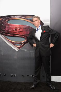 not much more american than bill nye the defining scientist of my childhood and superman one of america's best superheroes. <3