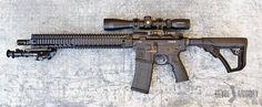 A Daniel Defense M4V9 and Leupold scope. |CLYDE ARMORY|