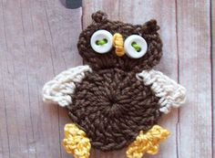 Crochet Owl Applique Pattern Free