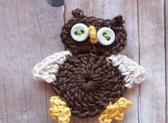 Crochet Owl Applique Pattern Free