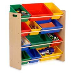 Honey Can Do Kids Storage Organizer - 12 Bins - Natural - Kids Furniture at Hayneedle