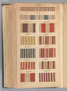 1784. British, Manchester. Textile Sample Book. | fiber to patch ...