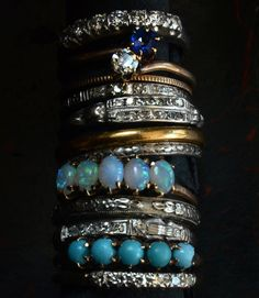 Some new diamonds and opals and turquoise:
