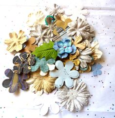 Clearance paper flowers leaves embellishments by LDphotography
