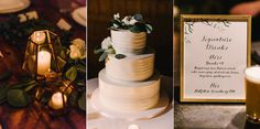 """""""Hers"""" and """"His"""" signature drinks make this reception extra personal: Anticipation Events Reception Ideas, Wedding Reception, Greek Wedding Theme, Elegant Wedding, Perfect Wedding, Wedding Details, Wedding Ideas, Wedding Cakes, Events"""