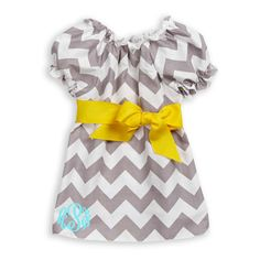 Lolly Wolly Doodle — Baby Girl Gray Chevron Yellow Sash Dress.  I mean, seriously!!!