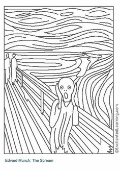Coloring page The Scream